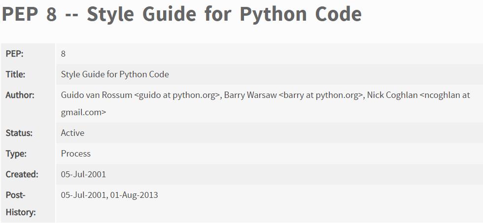 你写的Python代码规范吗?