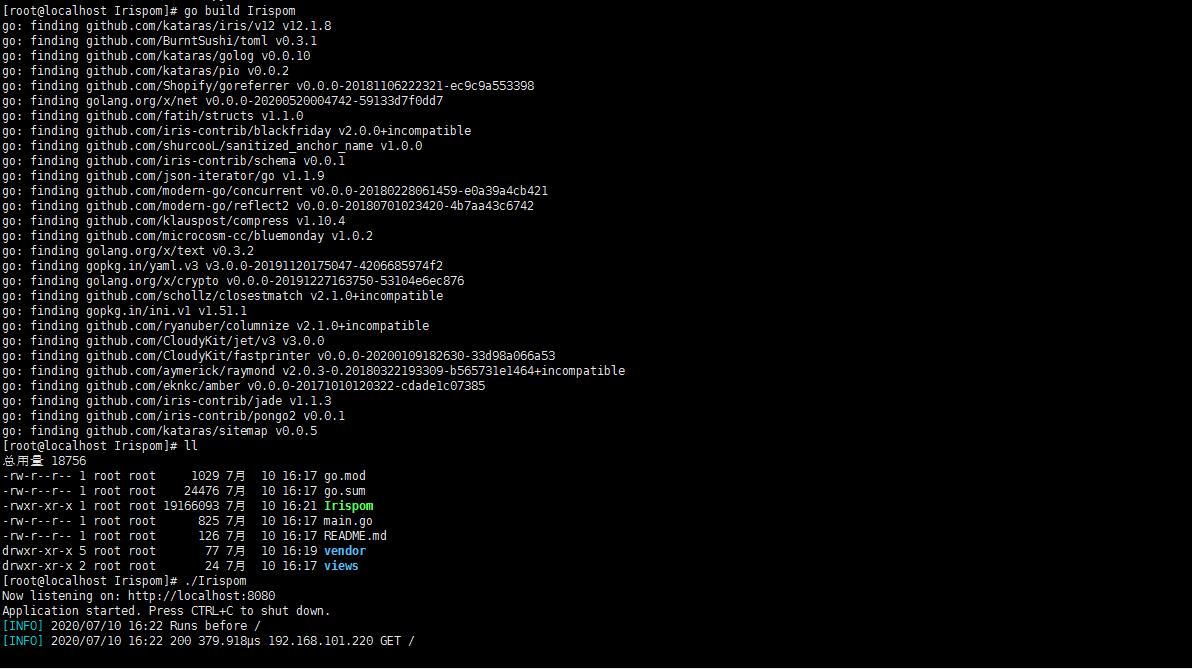 Linux环境部署go运行环境并启动项目