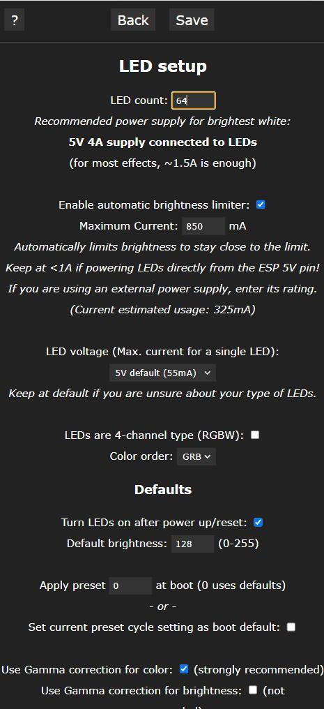 使用ESP8266+ws2812b制作无线流光溢彩