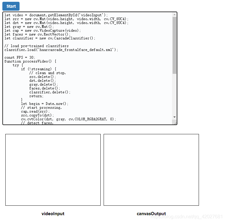 opencv.js人脸识别简单使用