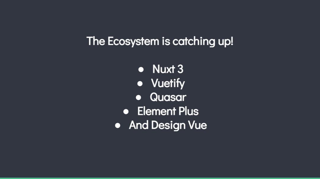 Vue3现状报告及未来规划