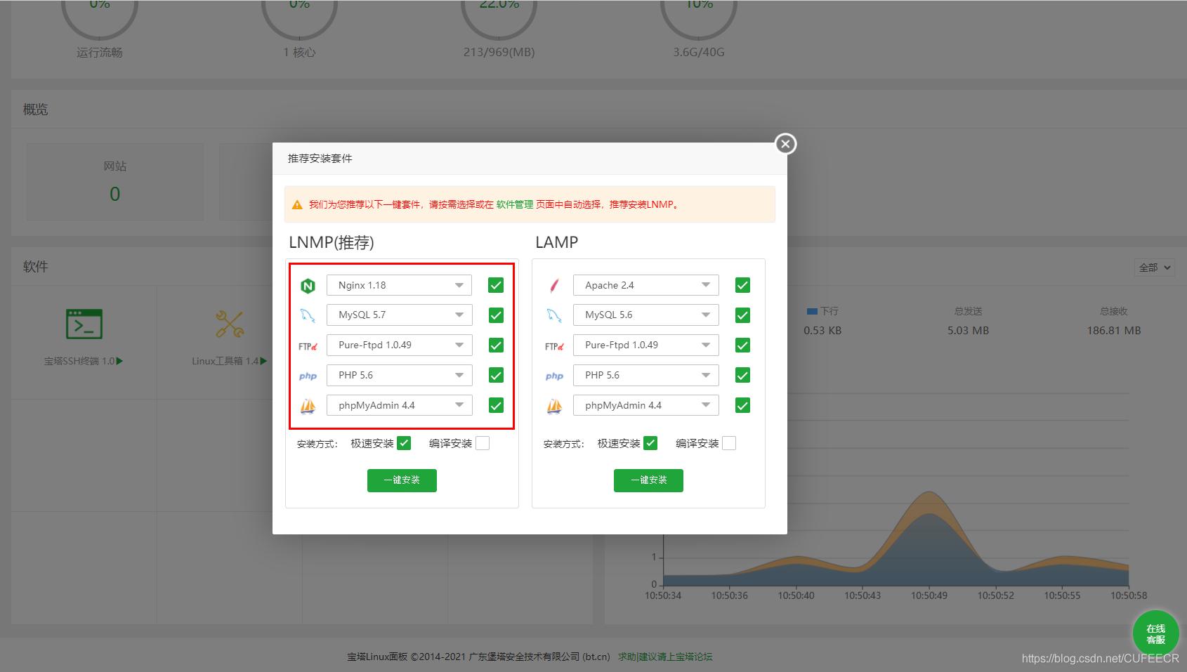 uniapp social app API construct LNMP install