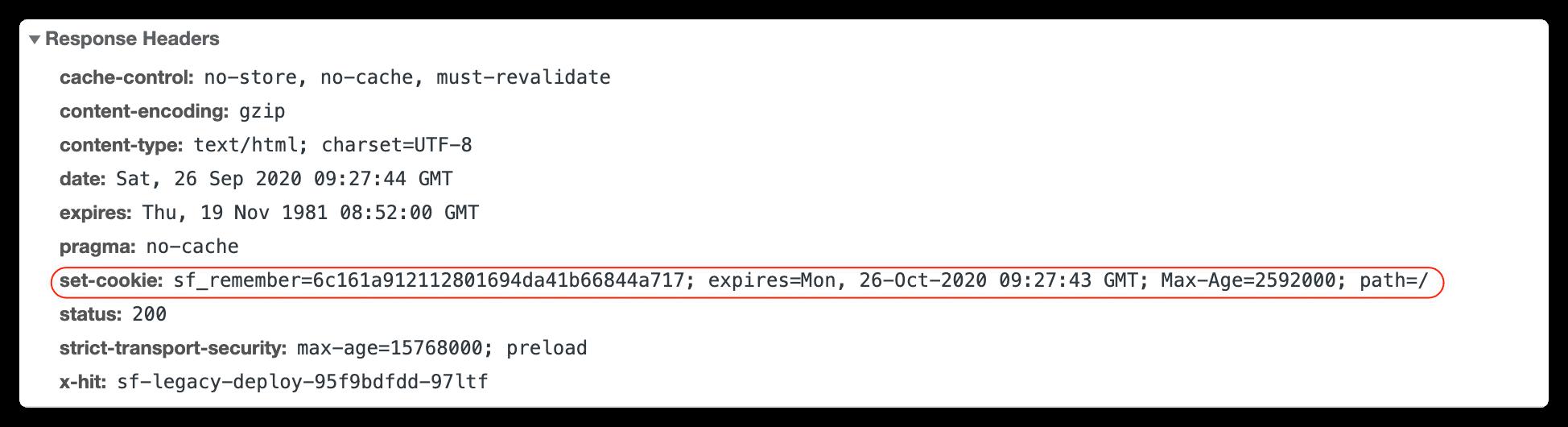 HTTP设置Cookie